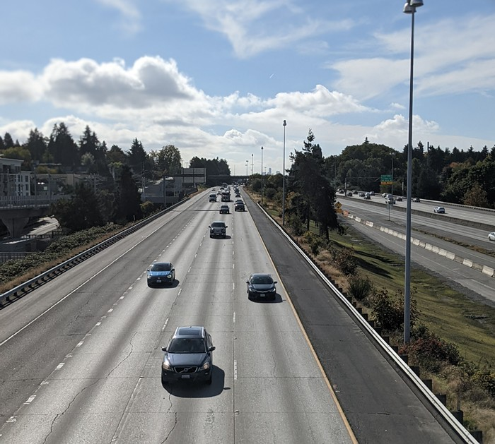 The eye of the I-5 traffic storm at 11:39 am...