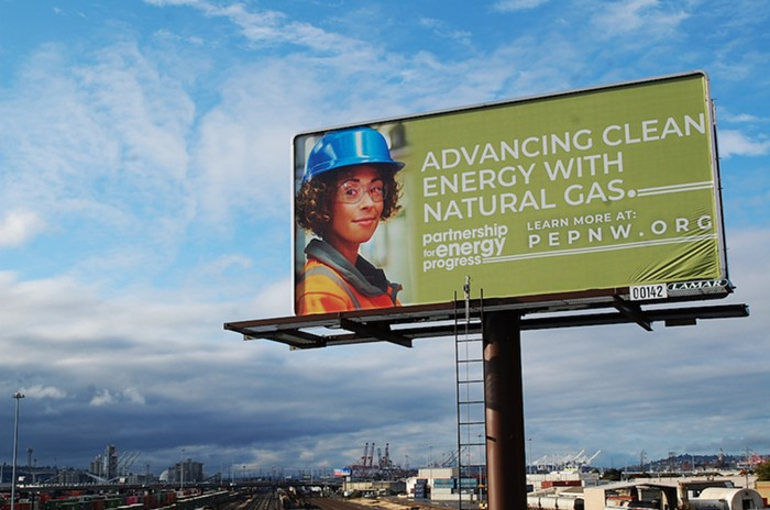 Like many others, this billboard is part of a $1 million PR campaign to make you believe something thats not true.