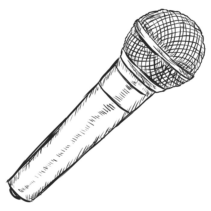 Line Art Microphone : Open mic at fix coffeehouse in seattle wa on every