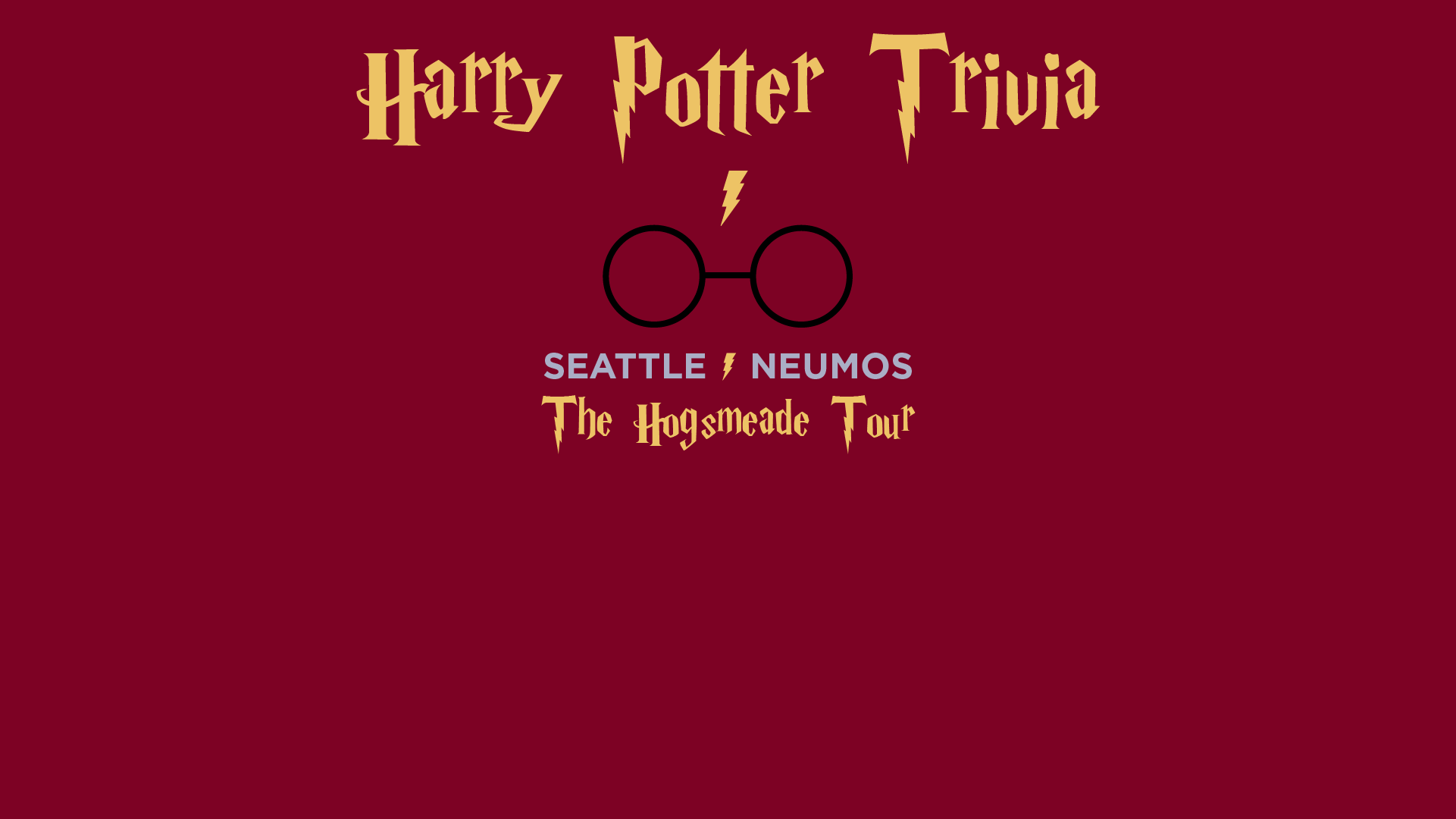 Harry Potter Trivia at Neumos in Seattle, WA on Tue ...