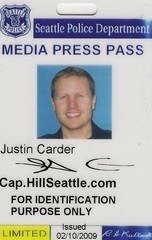 Das CHS reporter and publisher Justin Carder.