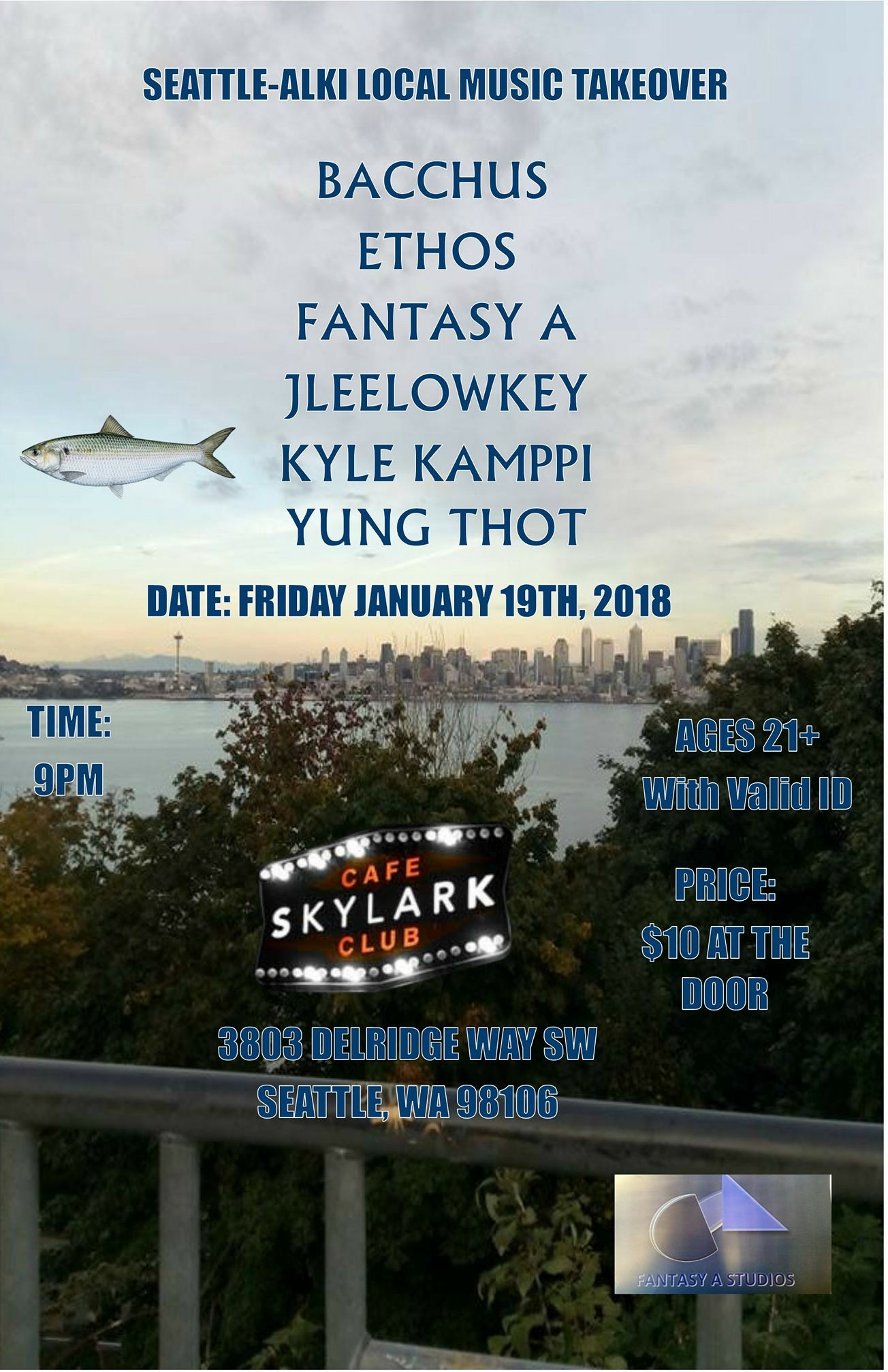 Seattle-Alki Local Music Takeover at Skylark Cafe & Club in Seattle