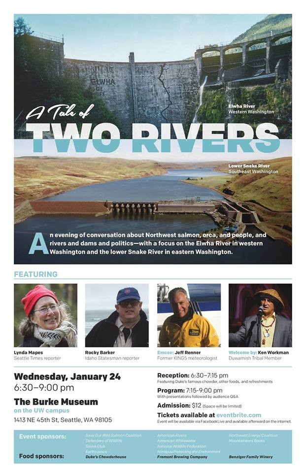 Tale of Two Rivers at Burke Museum in Seattle WA on Wed Jan 24