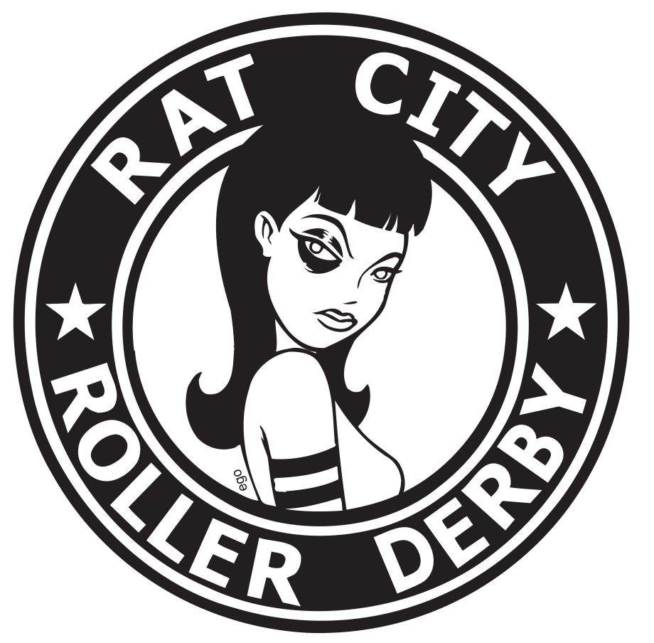 rat city roller derby home team bout 2 at the rat s nest in rh thestranger com Roller Derby Drawings Starlight Roller Skating Clip Art