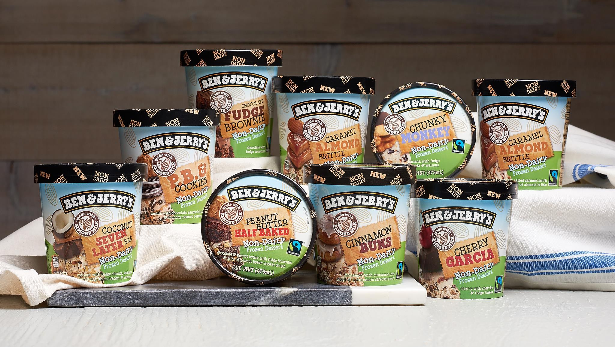 Taste Every Dairy Free Certified Vegan Almond Milk Based Flavor From The Vermont Ice Cream Giants For Classics Like Cherry Garcia And Chunky