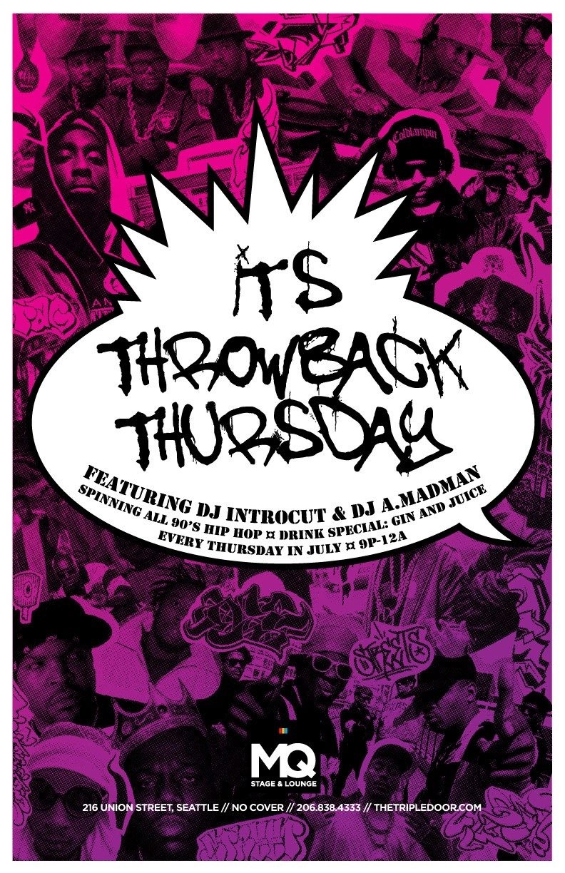 90s Hiphop Throwback Thursdays at Triple Door MQ Stage in Seattle ...