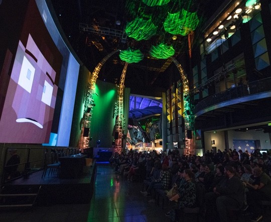 minecon earth party at museum of pop culture mopop in seattle wa