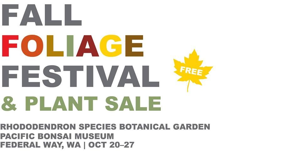 fall foliage festival plant sale at rhododendron species botanical