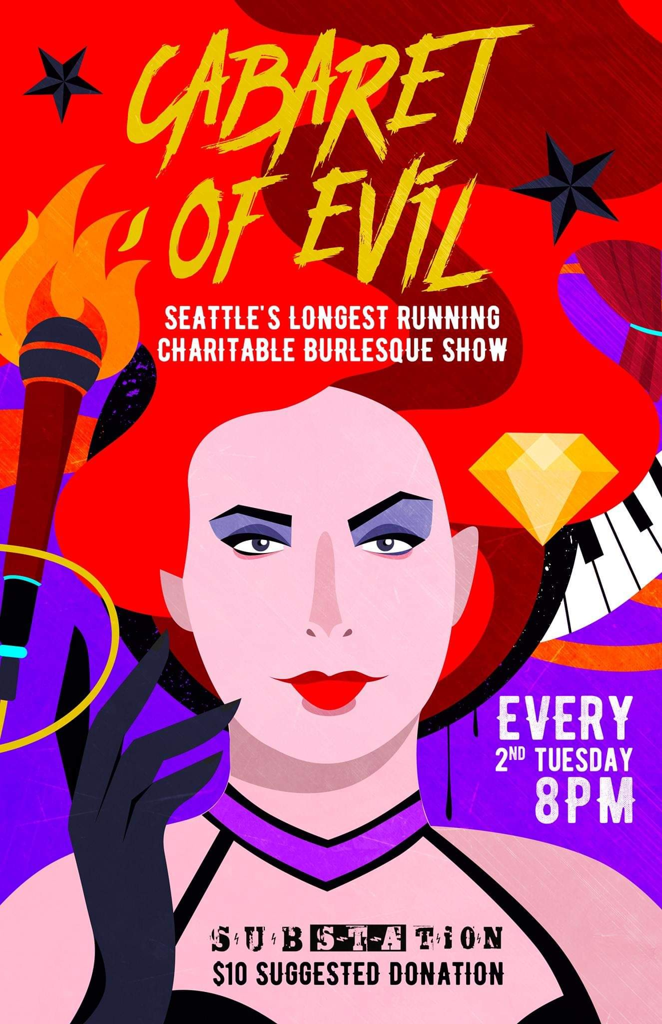 Cabaret of Evil: Fundraiser for SWOP. Substation Ballard