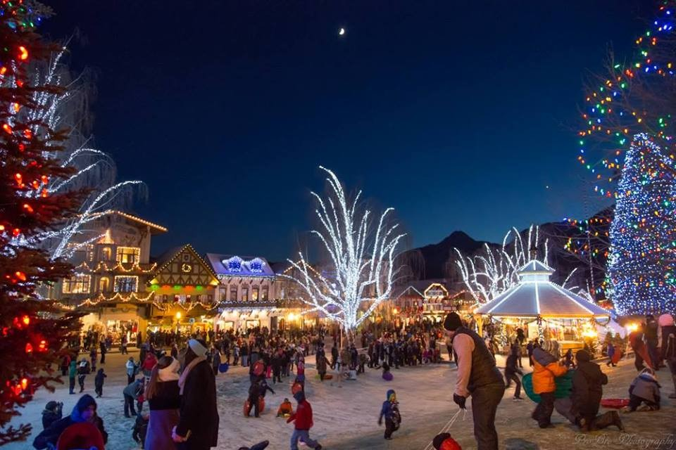 Leavenworth Christmas Lights.Christmas Lighting Festival At Leavenworth Wa In