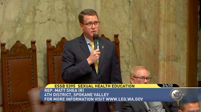 Throwback to last session, when former House Rep. Matt Shea led the opposition to the sex ed bill.