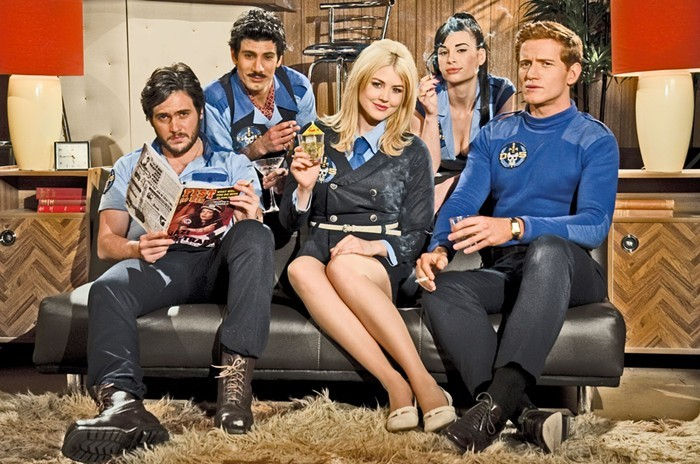 The cast of Danger 5—Nazi dinosaurs not pictured.