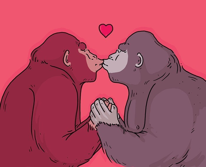 Just a couple of primates saving each other from, not for, eternities.