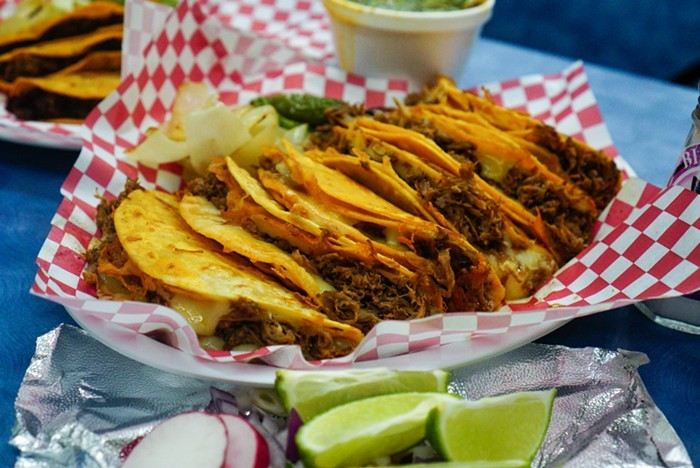Oozy, cheesy, crispy quesabirria tacos, like the ones served at Birrieria Tijuana, are all the rage.