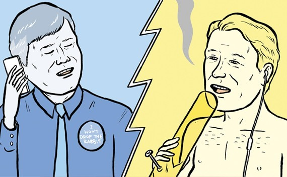 Totally forgot that former Stranger art guy Mike Force drew Seattles city attorney hitting a bong without a shirt on for some dumb grab bag in 2014 and felt a pang for the print edition so strong I almost died.