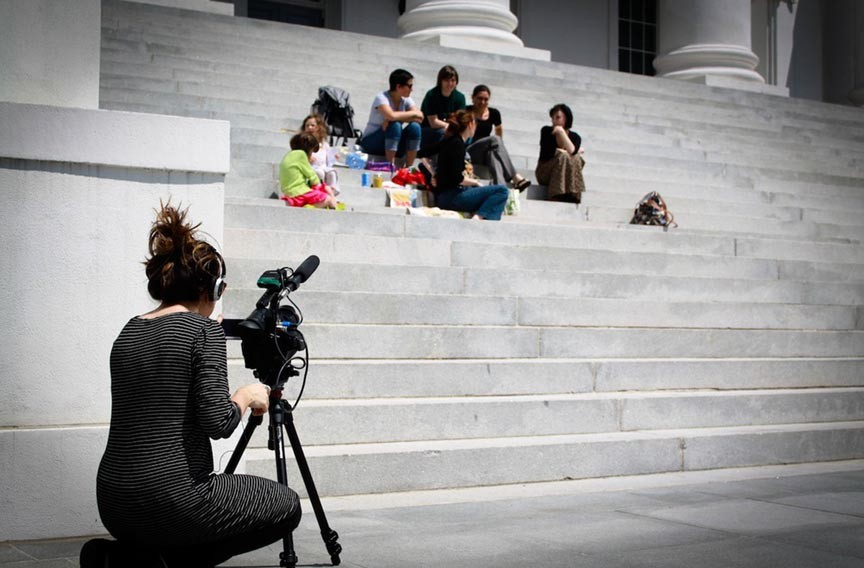 A crew from Allied Production House follows the 2012 women's rights protests at the Capitol. The resulting documentary has won an award and will be shown Saturday at the Virginia Film Festival. - ALLIED PRODUCTION HOUSE