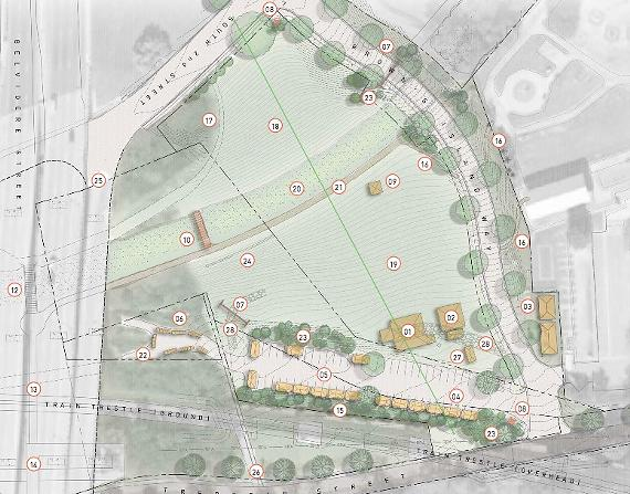 A rendering of the proposed amphitheater. - VENTURE RICHMOND
