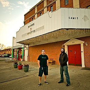 Aaron Reinhard and Evan Bateman of RVA Studios recently moved into the Bellevue Theater, which they plan to revive into a music and public events venue.