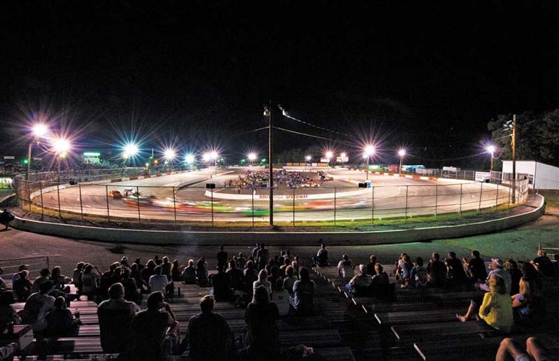 About 1,700 fans show up for the races Aug. 19 at Southside Speedway, the oldest racetrack in the Richmond area. If first opened in 1948 as Royall Speedway. - SCOTT ELMQUIST