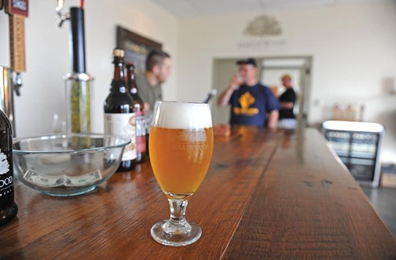 About 300 people flock to Hardywood Park Craft Brewery each week for free tastings. Starting in July, the brewery will be able to sell beer by the glass. - SCOTT ELMQUIST