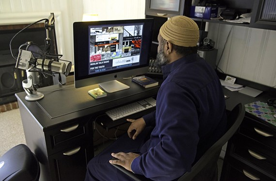 Abu Hudhayfah Edwards manages Islam Life Radio from a home office in Midlothian, with plans underway for a more permanent station headquarters. Some hosts asked that their faces not be shown in photographs because of their religious beliefs. - SCOTT ELMQUIST