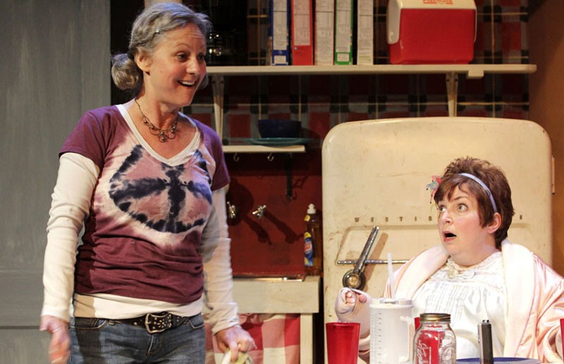 "Act your age: Irene Ziegler and Debra Wagoner co-star in ""Kimberly Akimbo,"" a Cadence Theatre Company production currently at the Empire Theatre. - JAY PAUL"