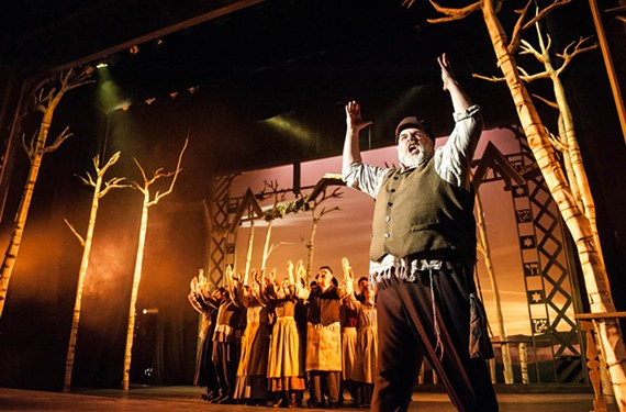 "Actor David Benoit brings star power to his performance as Tevye in ""Fiddler on the Roof"" at the November Theatre. Benoit appeared recently in the Broadway and touring production of ""Jekyll and Hyde."""