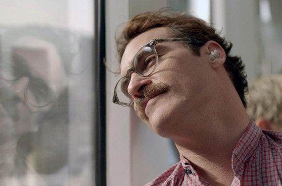 Actor Joaquin Phoenix continues his string of interesting acting choices as Theodore Twombly in the touching new sci-fi dramedy by director Spike Jonze.