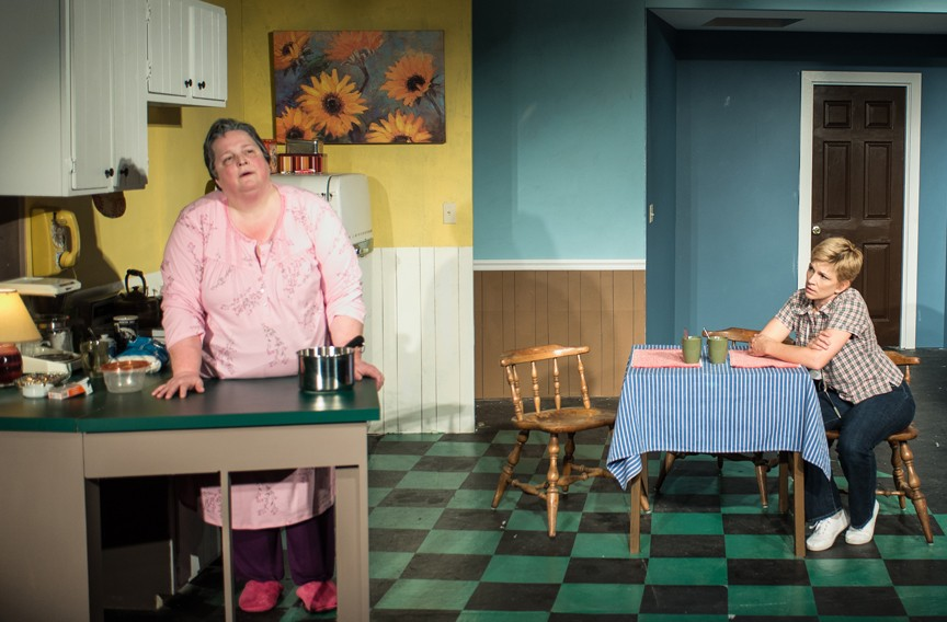"Actors Catherine Shaffner as Thelma, at left, and Kimberly Jones Clark as Jessie deliver powerful performances in a heavy work by Marsha Norman that plays like the polar opposite of ""Steel Magnolias."""