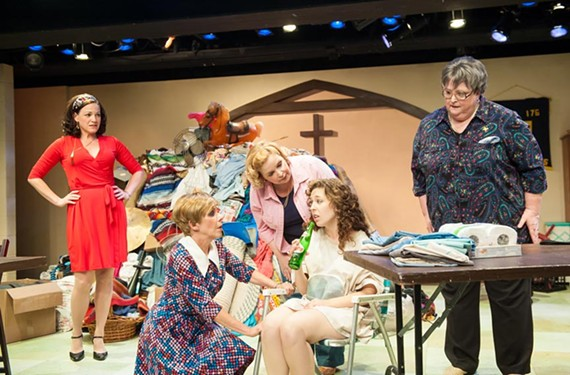 Actors Donna Marie Miller, Jan Guarino, Debra Wagoner, Louise Keeton and Cathy Shaffner do a nice job as Southern women playing off each through a sharp comedic script written by Bo Wilson and directed by Bruce Miller.