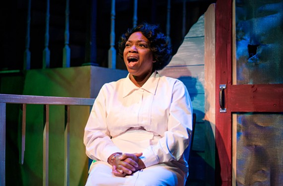 Actress Desiree Roots brings powerhouse vocals to her role as Caroline Thibodeaux in a Tony Kushner musical presented by Cadence Theatre Company in partnership with Virginia Repertory Theatre.