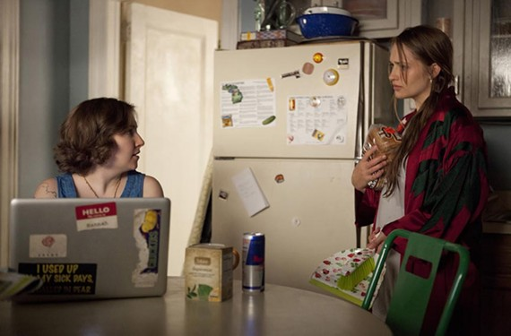 """Actress Lena Dunham stars in the HBO hit series, """"Girls,"""" a favorite of New Yorker television critic, Emily Nussbaum. - JESSICA MIGLIO"""