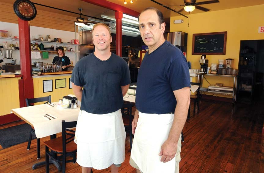 Adrian Burton and Michael Calogerakis opened Anthony's on the Hill this month, serving pizzas and pastas. - SCOTT ELMQUIST/FILE