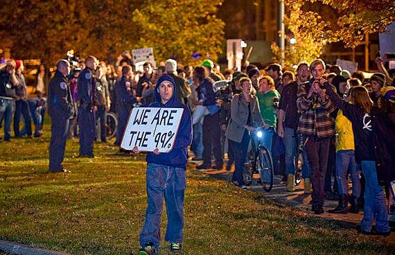 After more than a month, the Occupy Richmond protest is gaining steam. Last week, protestors first circled Monroe Park as a diversion, and then moved to Festival Park at the Richmond Coliseum. - ASH DANIEL