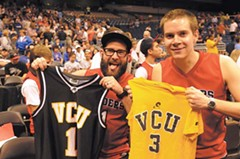 After the Richmond game Friday, UR fans switch loyalties to cheer on cross-town rival VCU in a show of Richmond hoops solidarity. - SCOTT ELMQUIST
