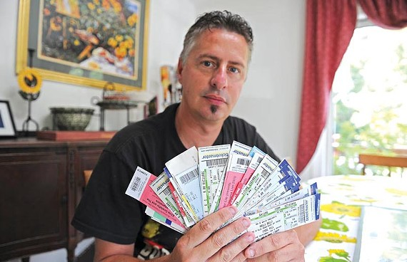 After winning a radio call-in contest in 2003, Ron Clements started a speed-dialing marathon, winning tickets to rock concerts and special events. - SCOTT ELMQUIST