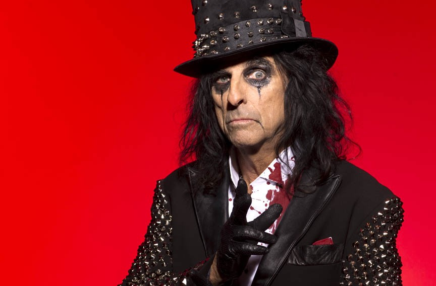 "Alice Cooper helped invent the idea of rock as a visual medium, using taboo stage theatrics and makeup he modeled after Bette Davis in ""Whatever Happened to Baby Jane."""