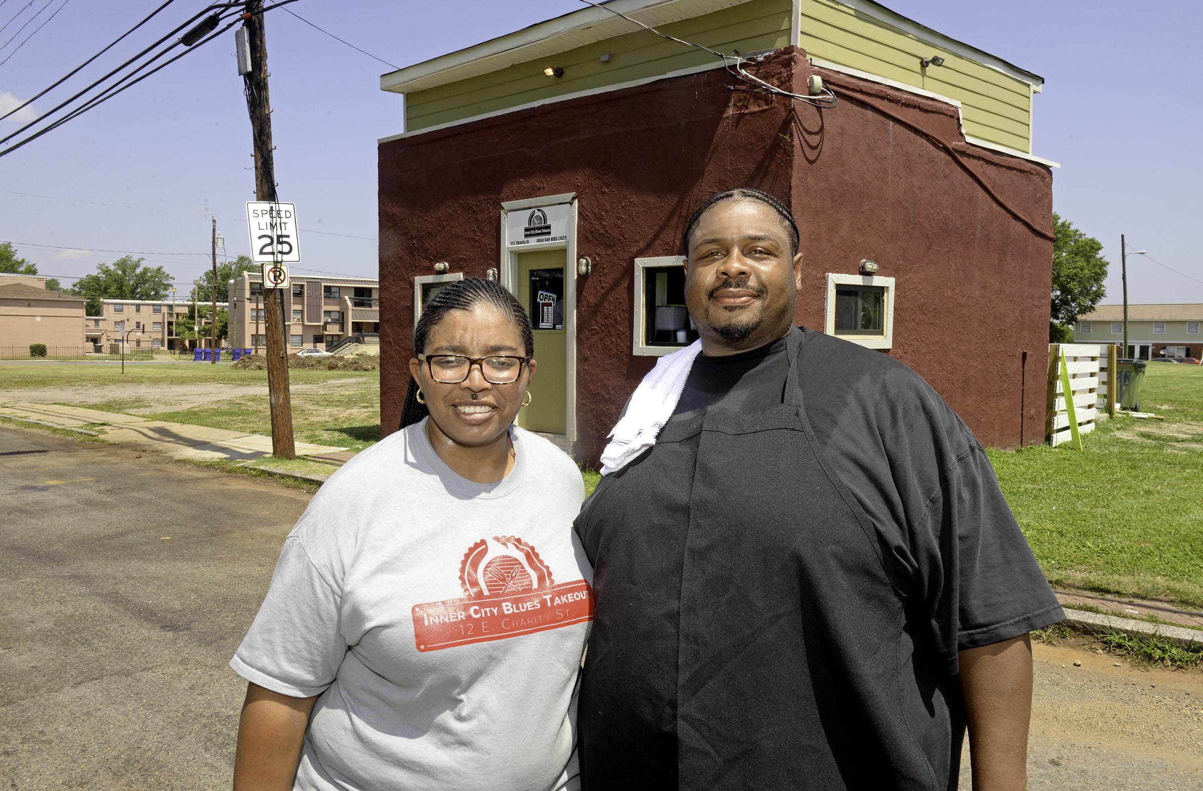 Alicia and Lamont Hawkins weren't able to keep their Inner City Blues open in Gilpin Court all year, but their second location, Carolina Bar B Que in Church Hill, is still turning out the smoked meat. - SCOTT ELMQUIST