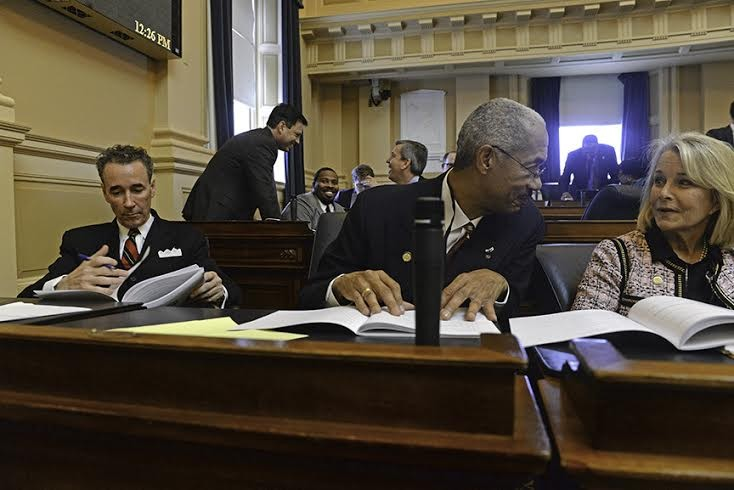 All alone: Joe Morrissey on the floor of the House of Delegates Wednesday. - SCOTT ELMQUIST