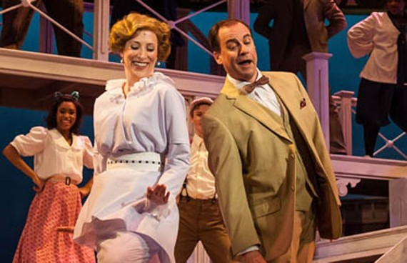 "Amanda Johnson as Marian Paroo and Larry Cook as the protagonist professor, Harold Hill, in the musical ""The Music Man,"" originally a Broadway hit in 1957. - AARON SUTTEN"