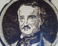 An etching of Poe by the French painter Edouard Manet (ca.1875).
