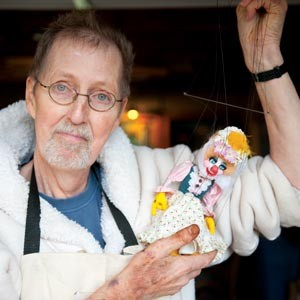 """""""In a legend or myth, you need a monster."""" Puppeteer Terry Snyder has been tasked with creating a bear to be used in a collaborative production of Shakespeare's """"The Winter's Tale"""" by Henley Street Theatre Company and Richmond Shakespeare. Photo by Scott Elmquist."""