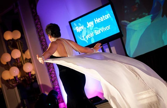 """""""It's a journey."""" Featuring the work of nationally-known fashion designers as well as local dress makers, Richmond's """"Cure by Design"""" fundraiser shines a spotlight on those who have successfully beaten cancer. - CURE BY DESIGN"""