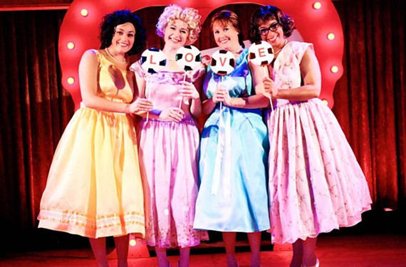 "Anna Stames, Aly Wepplo, Georgia Rodgers Farmer and Katrinah Carol Lewis are the ""Marvelous Wonderettes,"" performing at Swift Creek Mill Theatre through Oct. 20. - ROBYN O'NEIL"