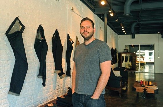 Anthony Lupesco of Schockoe Denim. - SCOTT ELMQUIST