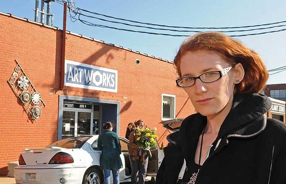 Artist Tracy Herman, who leases a studio at Art Works, worries that the new pay-for-parking policy will deter artists and art buyers from coming to Manchester. - SCOTT ELMQUIST