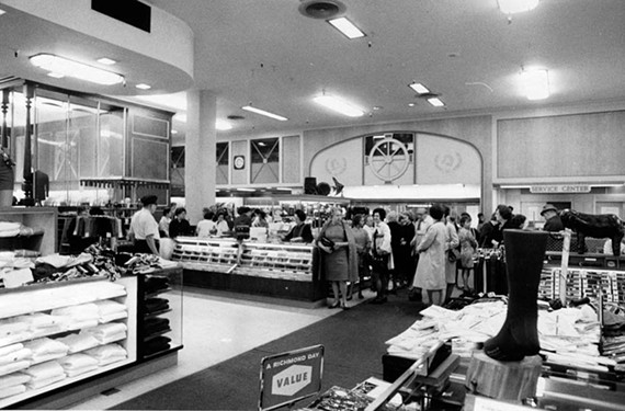 As late as May 1970, shoppers were lining up for service at Thalhimers, located downtown at Broad and Grace streets. - RICHMOND TIMES-DISPATCH COLLECTION/VALENTINE RICHMOND HISTORY CENTER