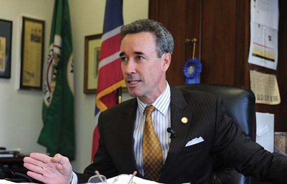"At a news conference last week, Delegate Joe Morrissey rails against the ""misleading"" SAT scores posted on the Richmond Public Schools' website. - SCOTT ELMQUIST"