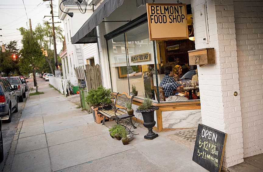 At Belmont Food Shop, the 1920s-era vibe is carried out in furnishings and music; diners can get a three-course meal with wine for $36. - ASH DANIEL