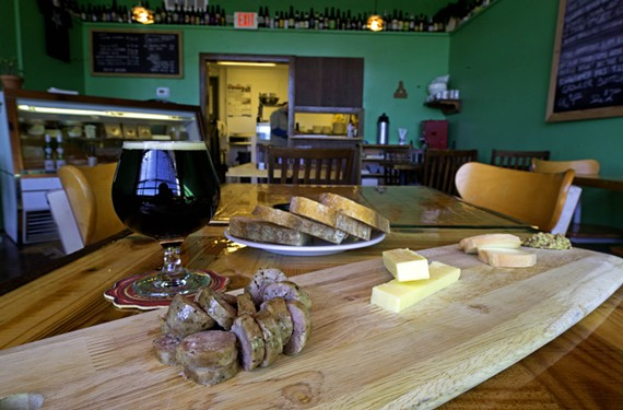 At Cask Café & Market, taleggio and Welsh cheddar cheese accompany bratwurst and a DC Brau 9th Gate dark mild beer. The Fan area business fills a niche for dine-in or carry-out brews, meats and local foods.